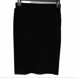 LOFT Polka Dots Midi Pencil Skirts